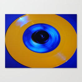 Yellow Blue Record Canvas Print