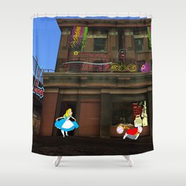 Alice in Crackland Shower Curtain