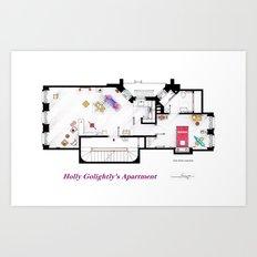 Breakfast at Tiffany's Apartment Floorplan Art Print