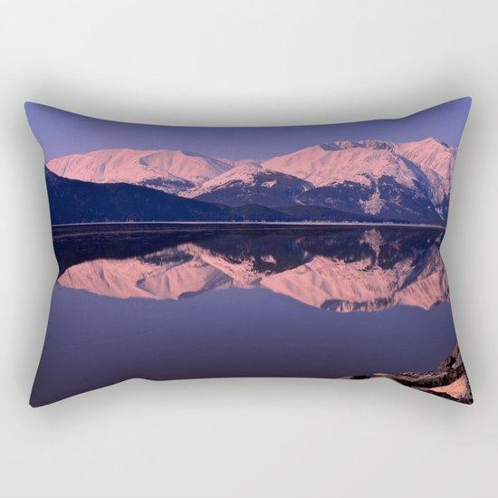 Rose Alpenglow Rectangular Pillow