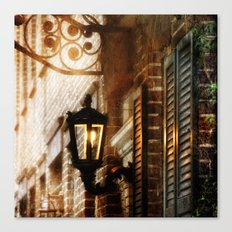 Meet Me By the Dull Pallor of an Old Gas Light Canvas Print