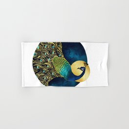 Golden Peacock Hand & Bath Towel