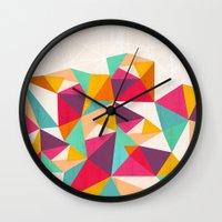 diamond Wall Clocks featuring Diamond by Kakel