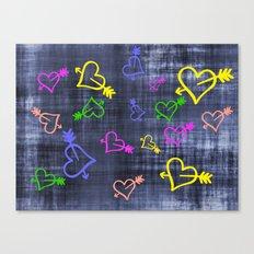 Hearts with Arrows Canvas Print