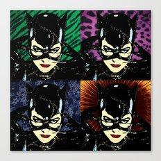 Four Catwomen Canvas Print