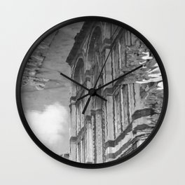 narcissistic duomo black and white Wall Clock