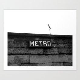 Paris Metro Art Print