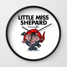 Little Miss Shepard Wall Clock