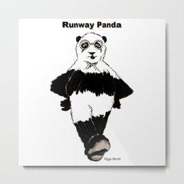 Riggo Monti Design #17 - Runway Panda Metal Print