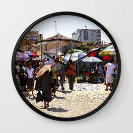 Albania Market Wall Clock