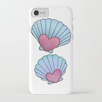 seashell iPhone & iPod Cases featuring Seashell 💗 by Ana Turrubiates