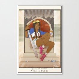 Queen of Swords - Azealia Banks Canvas Print