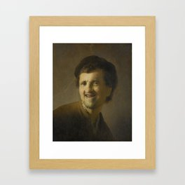 Bust of a Laughing Young Man Framed Art Print