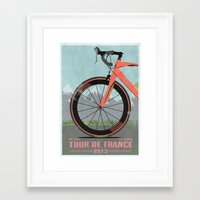 tour de france Framed Art Prints featuring Tour De France Bike by Wyatt Design