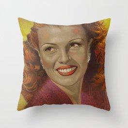 Rita Hayworth Throw Pillow