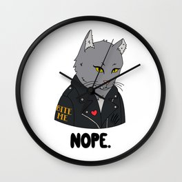 Alley Cat Wall Clock