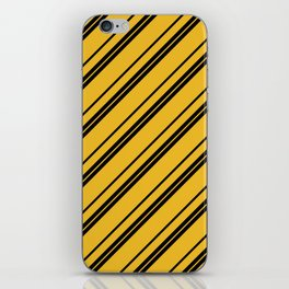 Potterverse Stripes - Hufflepuff Yellow iPhone Skin