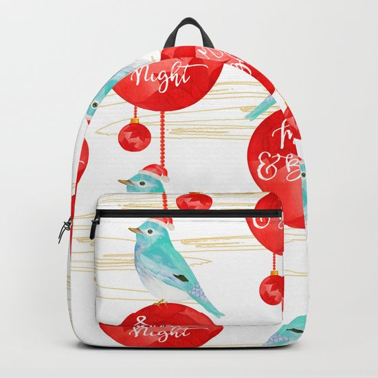Merry & bright birds #1 Backpack