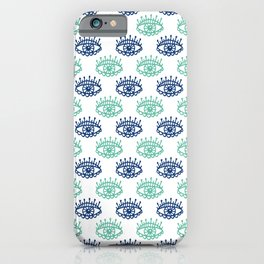 Evil Eyes Blue Pattern Lucky Charm Symbol iPhone Case