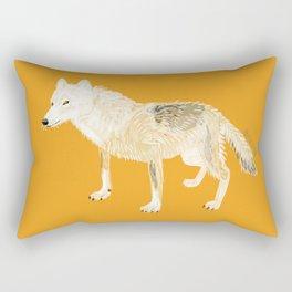 Totem white wolf Rectangular Pillow