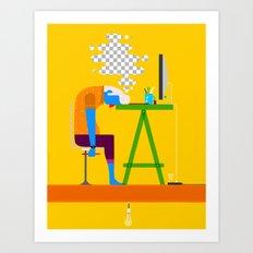 desktop Art Print