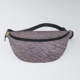 Purple and Gold Abstract Graphic I Fanny Pack