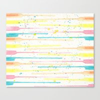 confetti Canvas Prints featuring Confetti by Tammy Kushnir