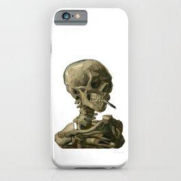 Van Gogh, Head of Skeleton Artwork Skull Reproduction, Posters, Tshirts, Prints, Bags, Men, Women, K iPhone Case