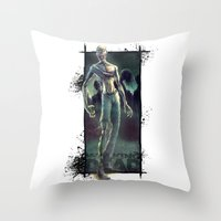 the walking dead Throw Pillows featuring Walking Dead by kcspaghetti