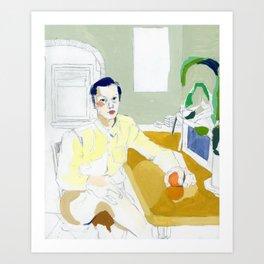 Boy Steated Art Print