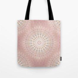Rose Geometric Mandala Tote Bag