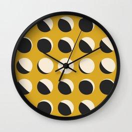 Moon Phased in Honey Wall Clock