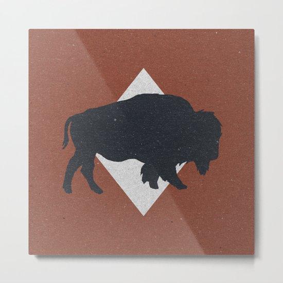 Bison & Blue Metal Print