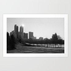 Bellevue Skyline by Morning Art Print
