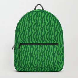 Pretty Green Zebra Pattern Backpack