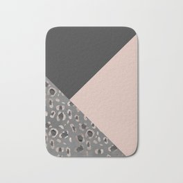 Leopard Geometric Glam #1 #minimal #decor #art #society6 Bath Mat