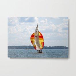 Sailing Metal Print