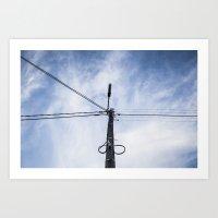 Art Print featuring Électricité dans l'air by GautCheezzz