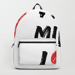 I Love Milk Backpack