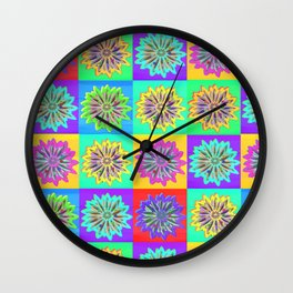 Happy Hippy Kaleidoscope Wall Clock