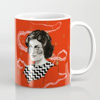 audrey Mugs featuring Audrey by moon-meat