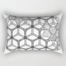 GEOMETRIC NATURE: COGNITIVE HEXAGON w/b Rectangular Pillow
