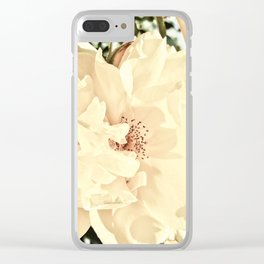 Sandy Pink Roses With Bokeh Clear iPhone Case