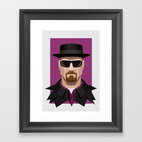 Breaking Bad - Heisenberg Framed Art Print