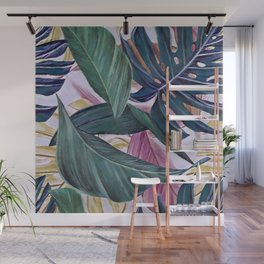 leaves in colours Wall Mural