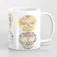 sugar skulls Mugs featuring Sugar Skulls  by Stephanie Eve