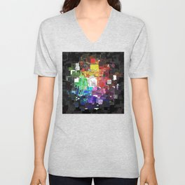 Spectral Geometric Abstract Unisex V-Neck
