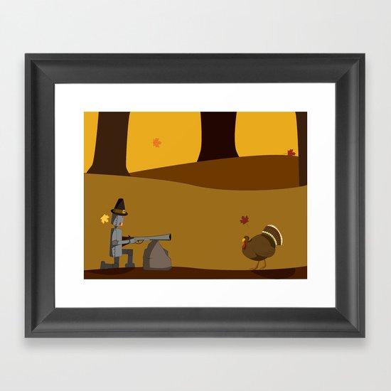November Robot Framed Art Print