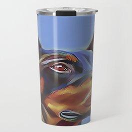 Blue Doberman Travel Mug