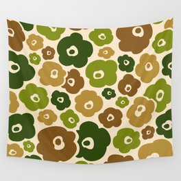 Colorful Retro Flower Pattern 151 Wall Tapestry